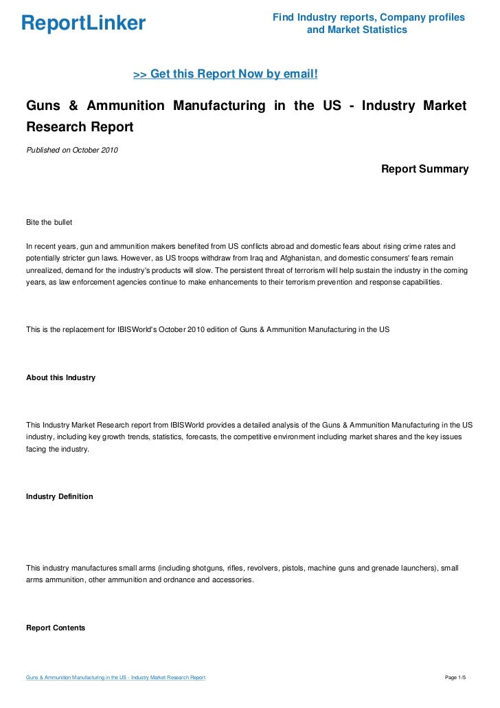 Gunsmithing report topics