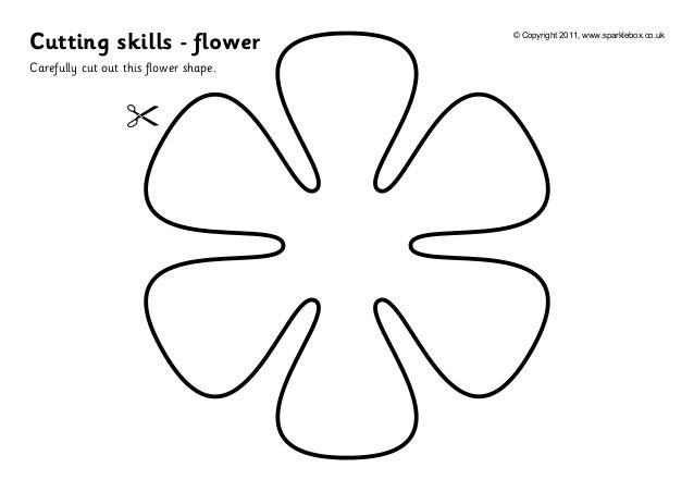 ... .co.ukCarefully cut out this flower shape.Cutting skills - flower