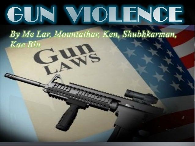 IB Topic:  Gun Violence- Rm 20
