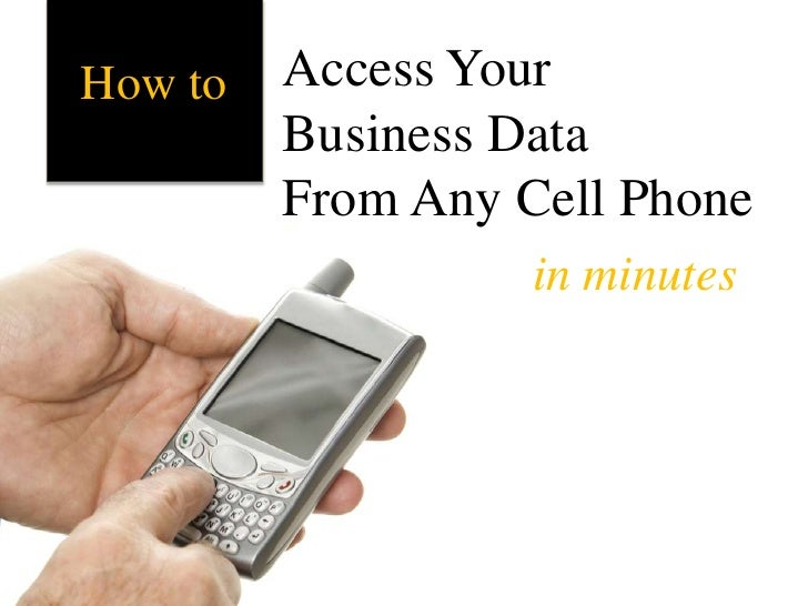 Access Your <br />Business DataFrom Any Cell Phone<br />How to<br />in minutes<br />