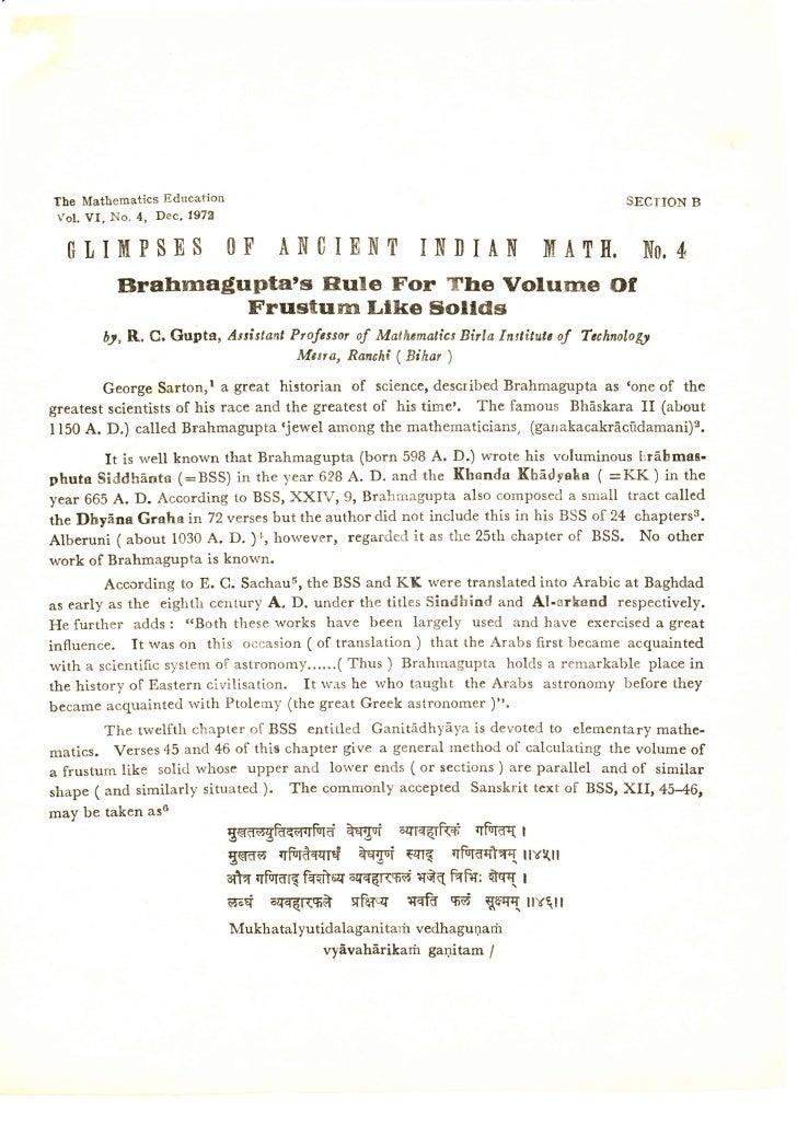 The Mathematics Education                                                            SECTION B!ol. VI, No. 4, Dec. 1973  0...