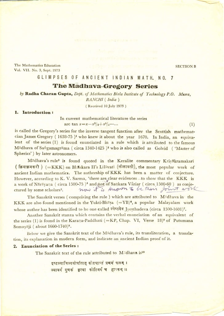 The Mathematics Education                                                                       SECTION BVol. V I I .   N ...