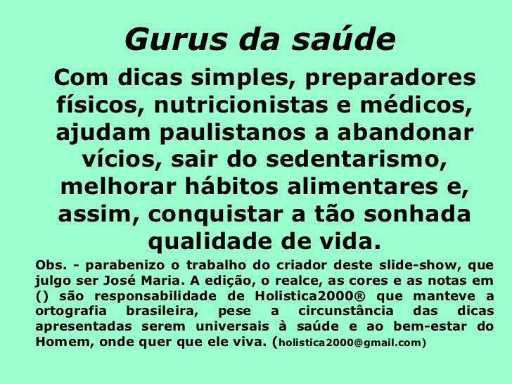 GURUS DA SAUDE