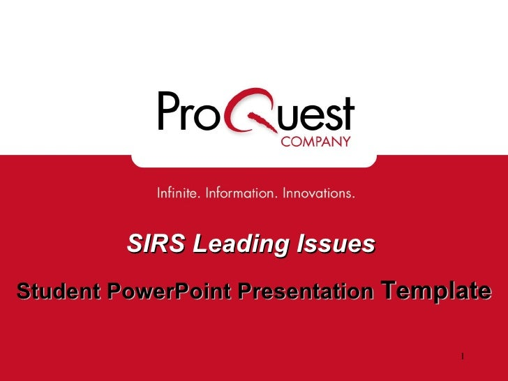SIRS Leading Issues   Student PowerPoint Presentation  Template