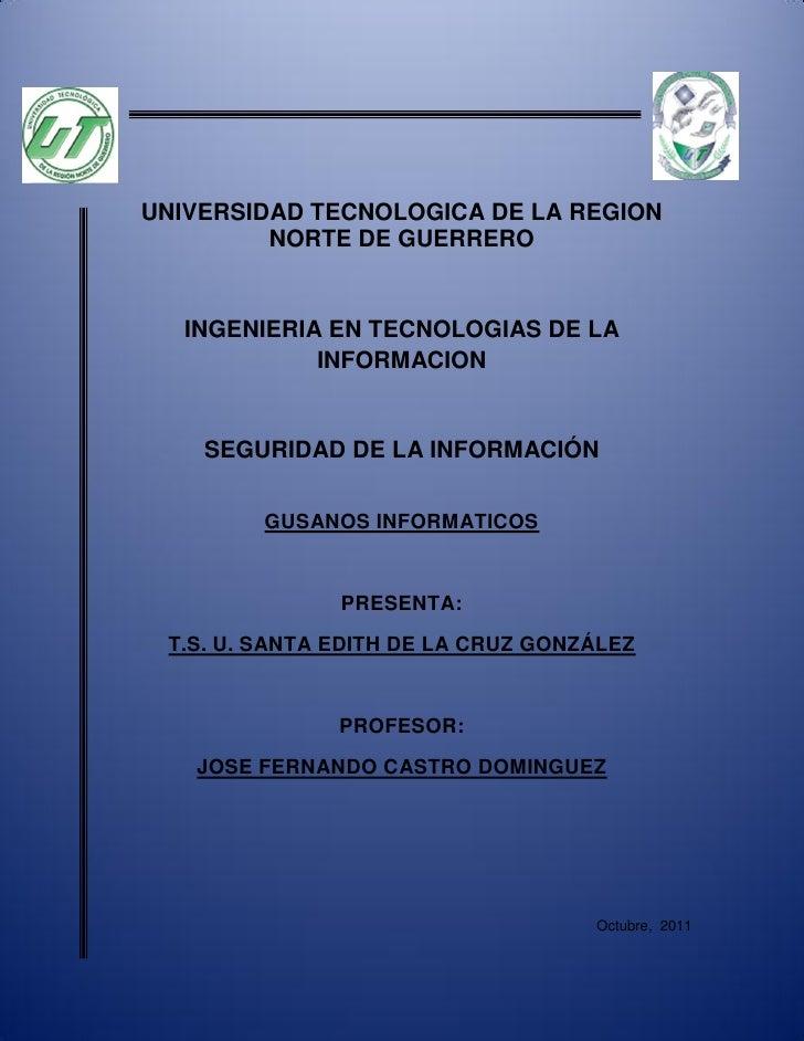 UNIVERSIDAD TECNOLOGICA DE LA REGION         NORTE DE GUERRERO   INGENIERIA EN TECNOLOGIAS DE LA             INFORMACION  ...
