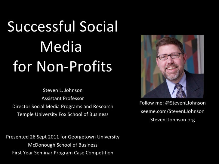 Successful Social Media for Non-Profits