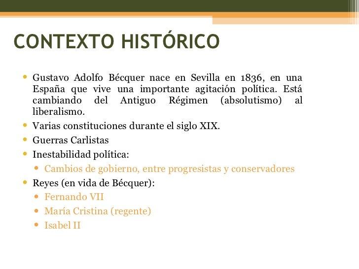 Gustavo Adolfo BecQuer contexto historico