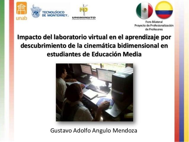 Foro Bilateral                                        Proyecto de Profesionalización                                      ...