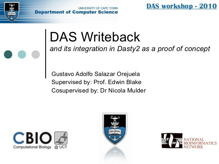 DAS Writeback and its integration in Dasty2 as a proof of concept Gustavo Adolfo Salazar Orejuela Supervised by: Prof. Edw...