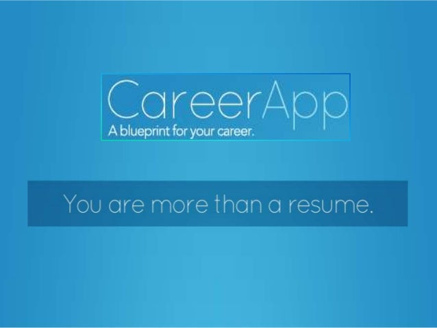 CareerApp pitch deck