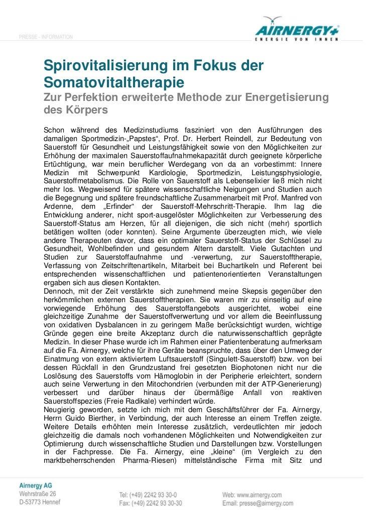 Spirovitalisierung im Fokus derSomatovitaltherapieZur Perfektion erweiterte Methode zur Energetisierungdes KörpersSchon wä...