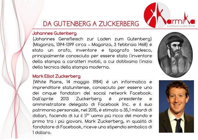 Karmika Comunicazione - Da Gutenberg a Zuckerberg