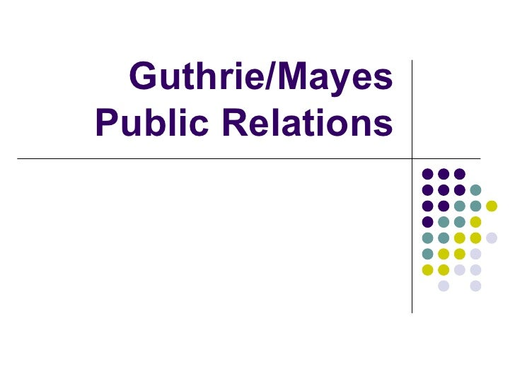 Guthrie mayes pr crisis comm. presentation 2 1-2010