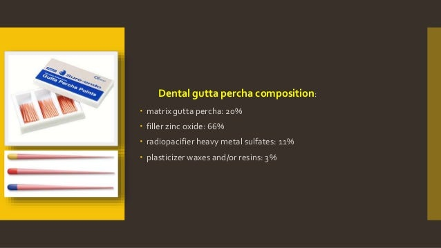 Gutta Percha Points Composition Gutta Percha Composition