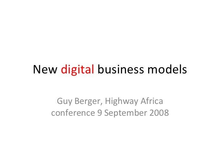 New Digital Media Business Models