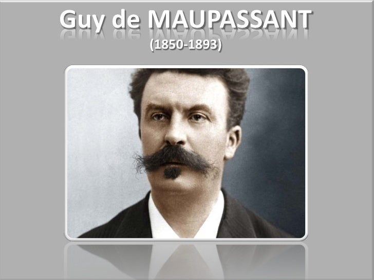 thesis of the necklace by guy de maupassant Guy de maupassant has a dark humor and likes to see mathilde and her husband struggle in the necklace a women named mathilde is lended a diamond necklace for a ball.