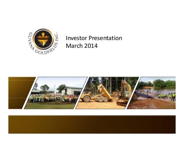 InvestorPresentation March2014