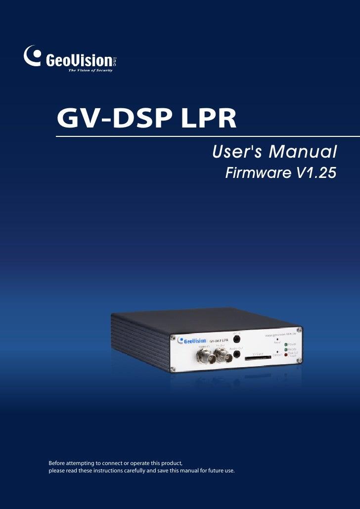 Gv Dsp Lpr User Manual(Ldspv125 A En)