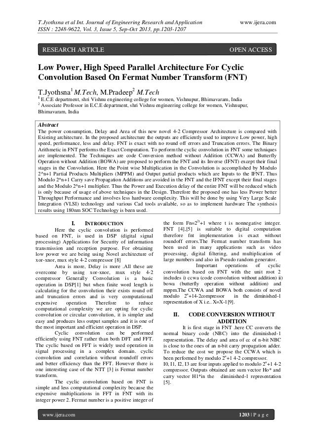 T.Jyothsna et al Int. Journal of Engineering Research and Application ISSN : 2248-9622, Vol. 3, Issue 5, Sep-Oct 2013, pp....
