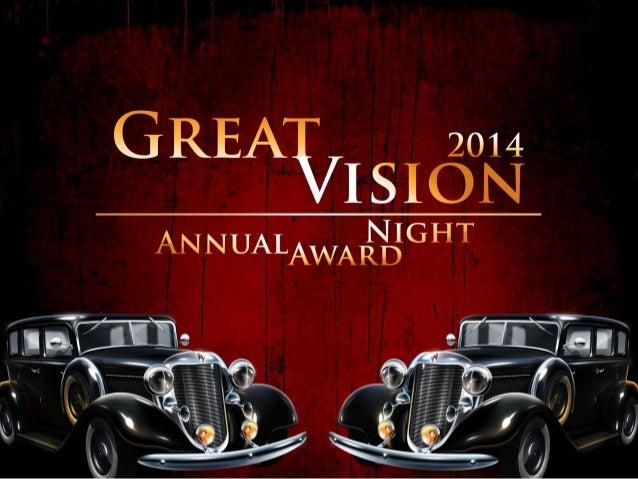 Great Vision Annual Award Presentation 2014
