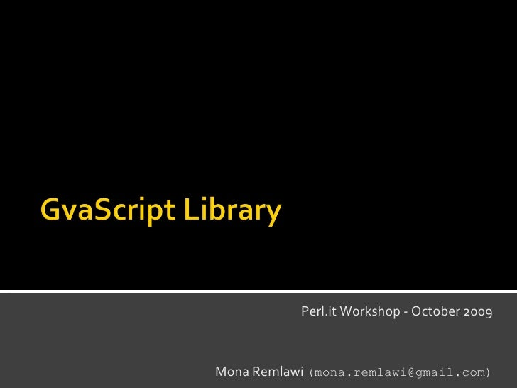 GvaScript Library