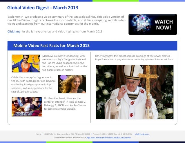 Global Video Digest - March 2013