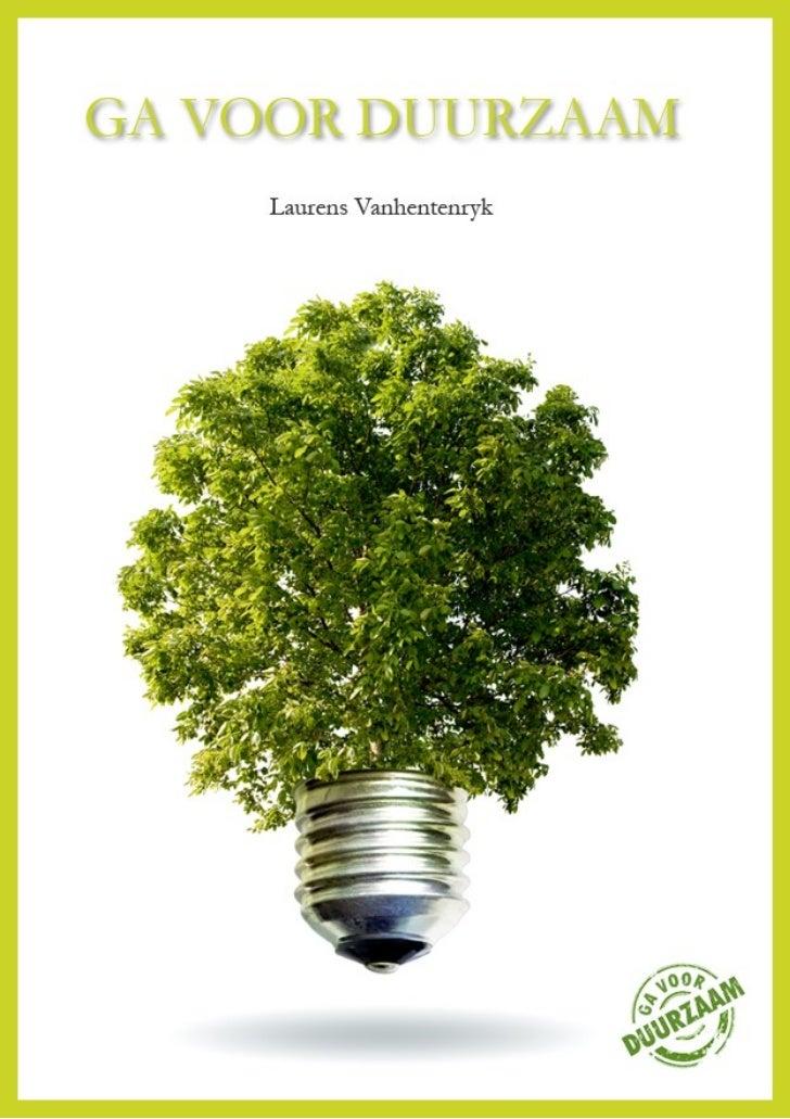 Ga voor duurzaam e-Book
