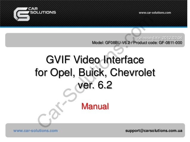 Gvif video interface_for_opel_manual_ver6.2_en