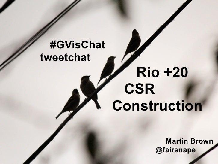 CSR, Construction and Rio +20