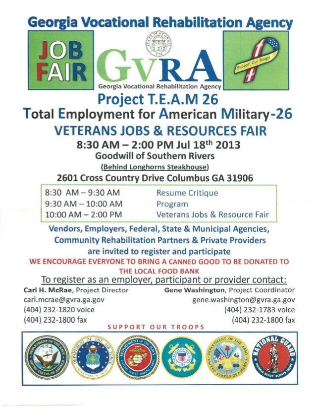 L . . - - - - - - - ' Georgia Vocational Rehabilitation Agency L..--------' Project T.E.A.M 26 Total Employment for Americ...