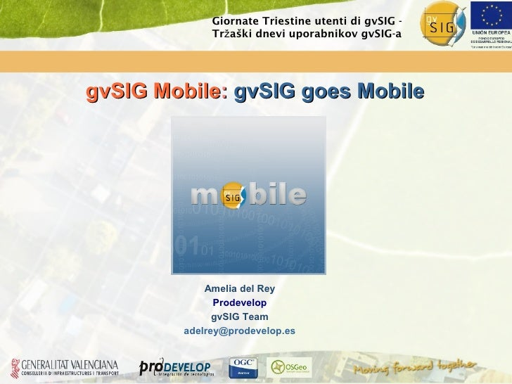 gvSIG Mobile at the  2nd gvSIG users meeting in  Trieste (Italy)