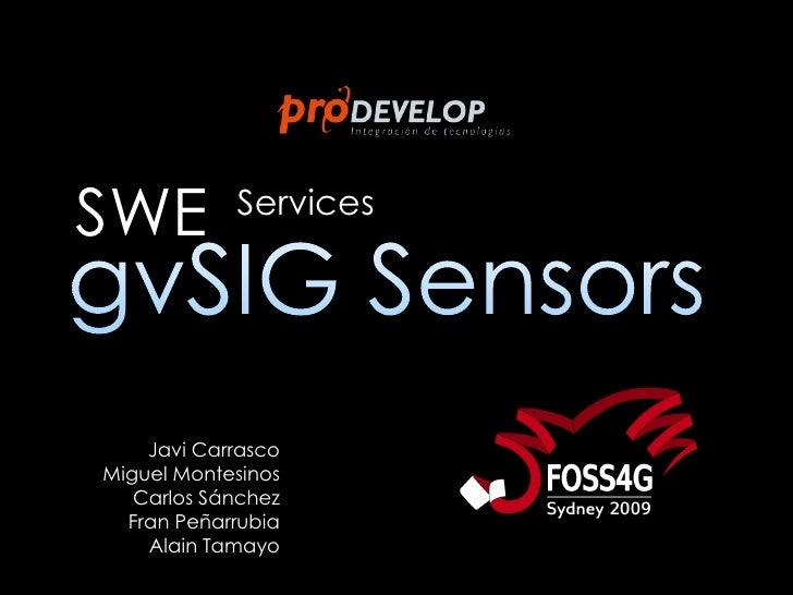 gvSIG SOS extension at FOSS4G2009