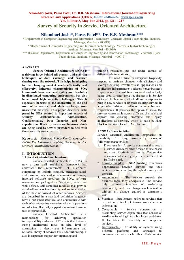 Nilambari Joshi, Paras Patel, Dr. B.B. Meshram / International Journal of EngineeringResearch and Applications (IJERA) ISS...