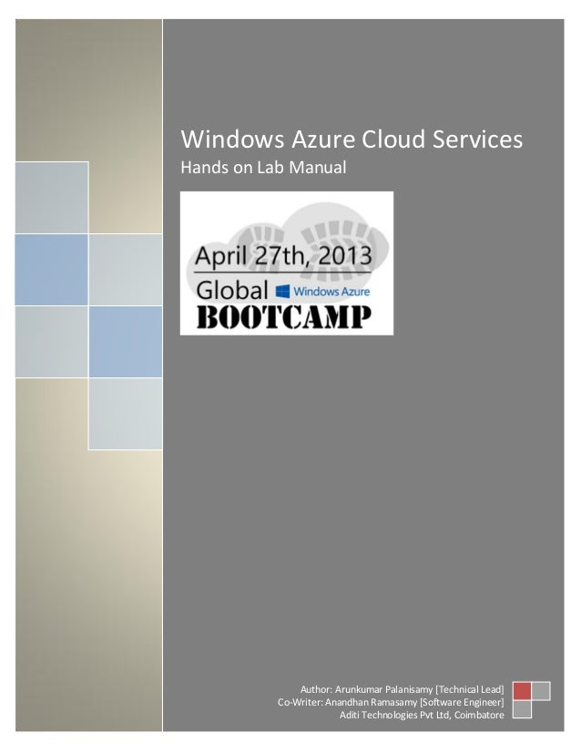 windows azure cloud services - Lab Manual