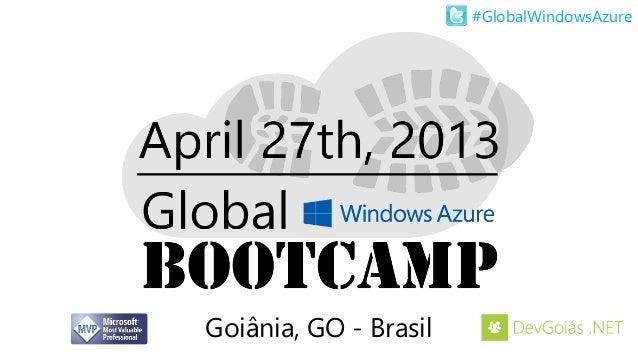 #GlobalWindowsAzureGoiânia, GO - Brasil
