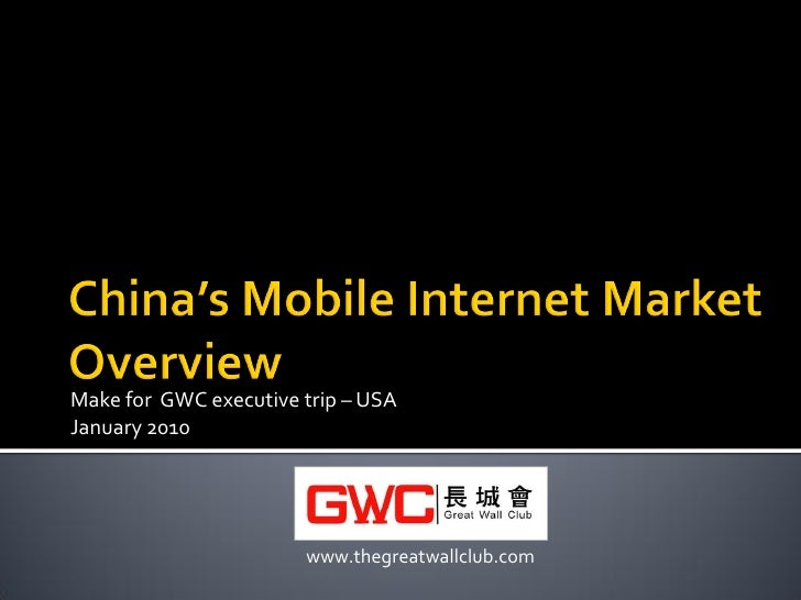 China's Mobile Internet Market Overview 201001
