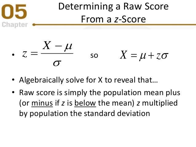 how to find z score with standard deviation