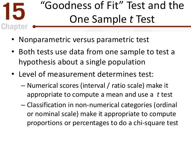 The Chi Square Statistic Tests For Goodness Of Fit And