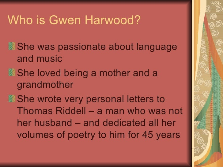 Gwen Harwood powerpoint