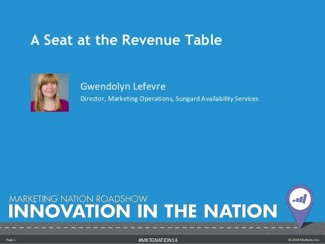A Seat at the Revenue Today - Gwendolyn Lefevre