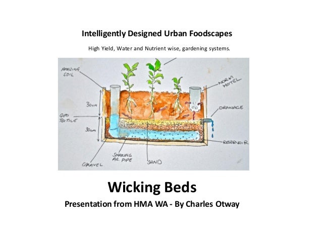 Intelligently Designed Urban Foodscapes Wicking Beds Presentation from HMA WA - By Charles Otway High Yield, Water and Nut...