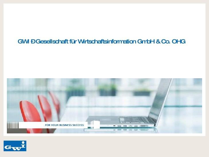 GWI – Gesellschaft für Wirtschaftsinformation GmbH & Co. OHG