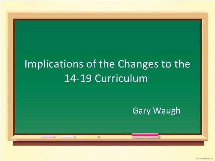 Gary Waugh Keele Presentation