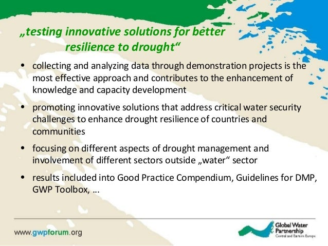 """""""testing innovative solutions for better resilience to drought"""" • collecting and analyzing data through demonstration proj..."""