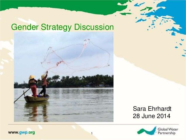 Gender Strategy Discussion 1 Sara Ehrhardt 28 June 2014