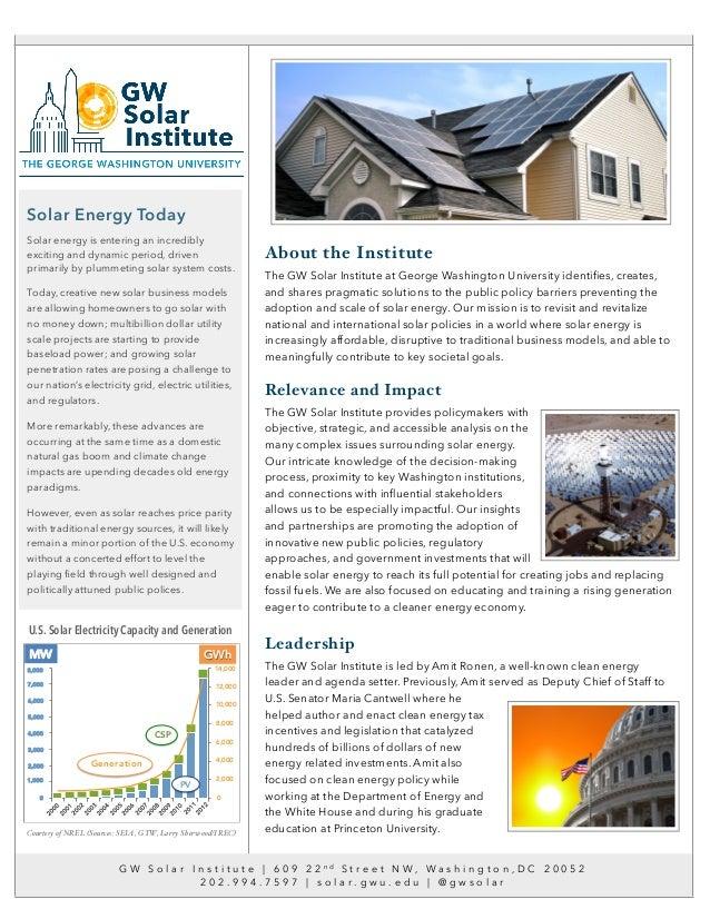 GW Solar Institute Flyer