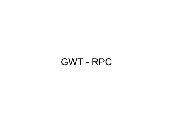 GWT - RPC