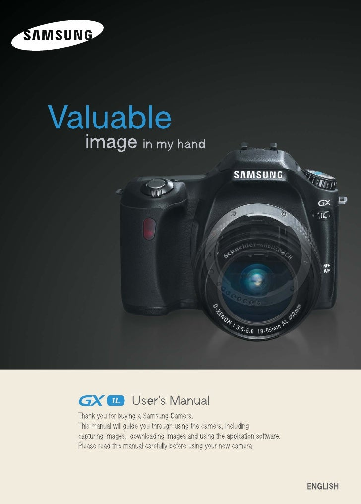 Samsung Camera GX-1L User Manual
