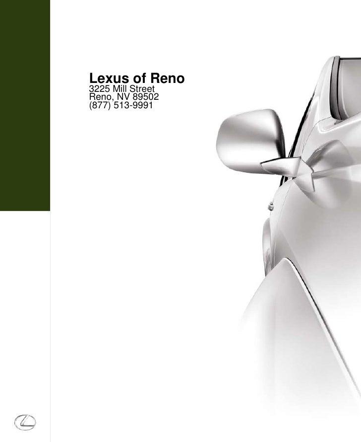 Lexus of Reno                                    3225 Mill Street                                    Reno, NV 89502       ...