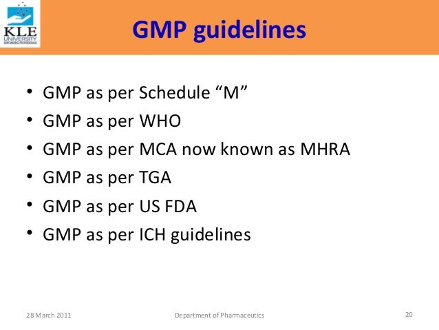 who guidelines on gmp for pharmaceutical products